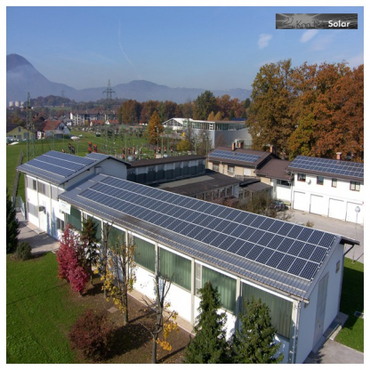 Sončna elektrarna Trata (vir: Gorenjske elektrarne)