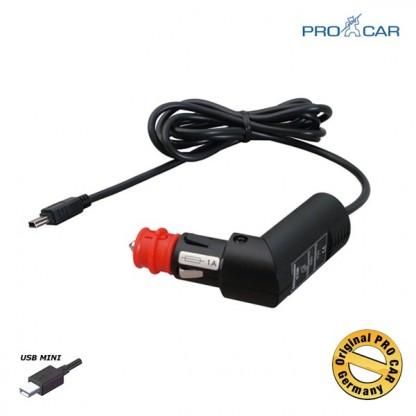 ProCar Polnilni kabel 12-24V/5V z Mini USB vtičem