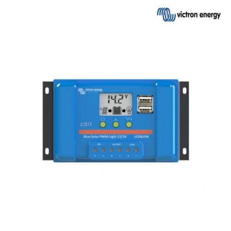 Solarni regulator Victron BlueSolar PWM LCD 12/24V, 10A, USB izhod