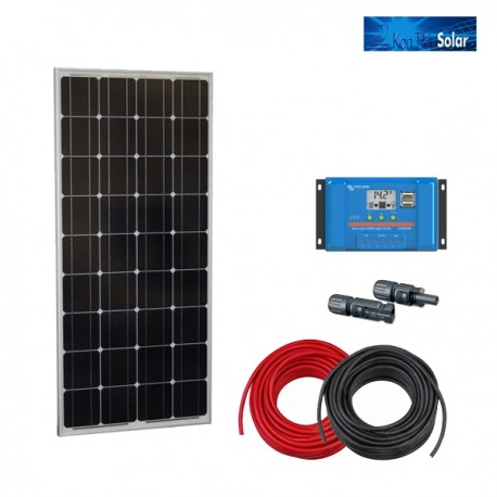 Solarni komplet BlueSolar DC 100W s solarnim modulom, regulatorjem in priključnimi kabli
