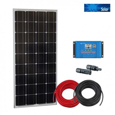 Solarni komplet BlueSolar DC 150W s solarnim modulom, regulatorjem in priključnimi kabli